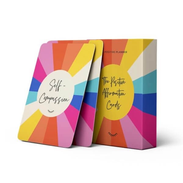 A pack of The Positive Affirmation Cards