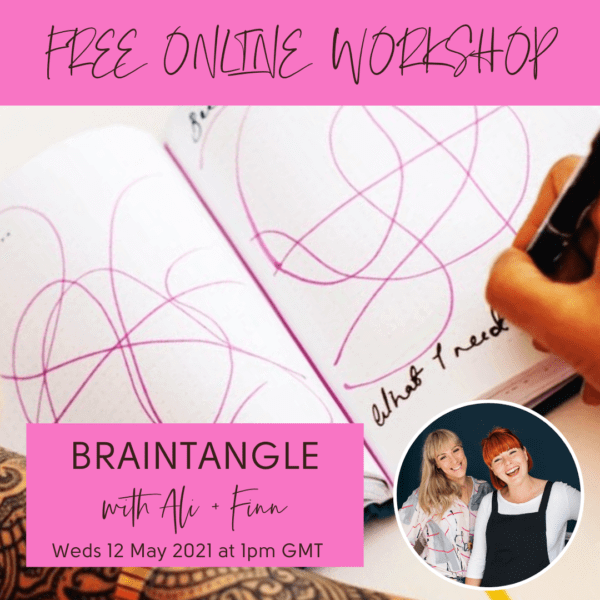 Graphic advertising the Positive Planner Online Braintangle Workshop