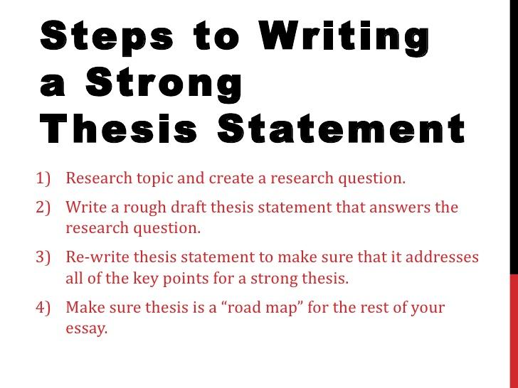 write good thesis paragraph